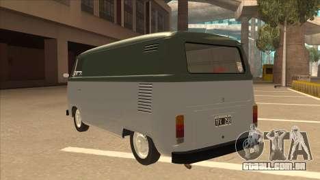 VW T2 Van para GTA San Andreas vista traseira