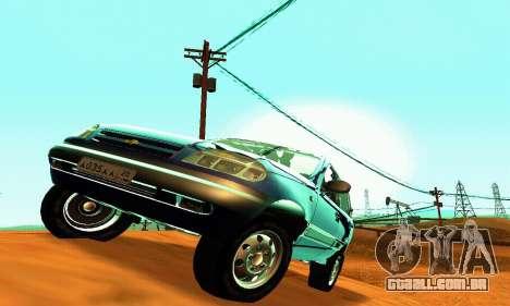 21236 Chevrolet Niva VAZ para GTA San Andreas vista interior