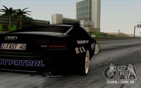 Audi RS5 2011 Police para GTA San Andreas vista direita