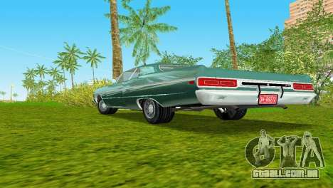 Plymouth Fury III 1969 Coupe para GTA Vice City vista interior
