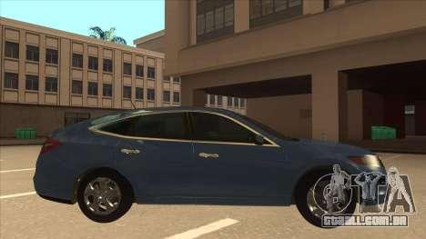 Honda Crosstour 2012 para GTA San Andreas traseira esquerda vista