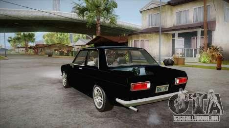 Datsun 510 RB26DETT Black Revel para GTA San Andreas traseira esquerda vista