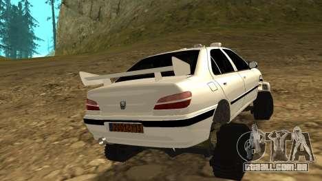 Peugeot 406 Grizzli para GTA San Andreas traseira esquerda vista