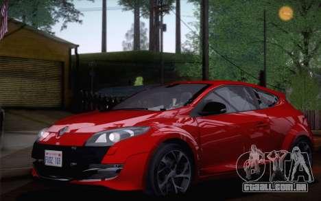 Renault Megane RS Tunable para GTA San Andreas traseira esquerda vista