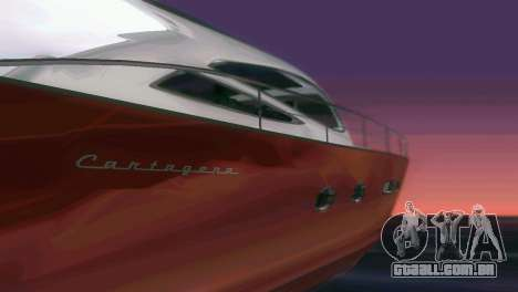 Cartagena Delight Luxury Yacht para GTA Vice City vista superior