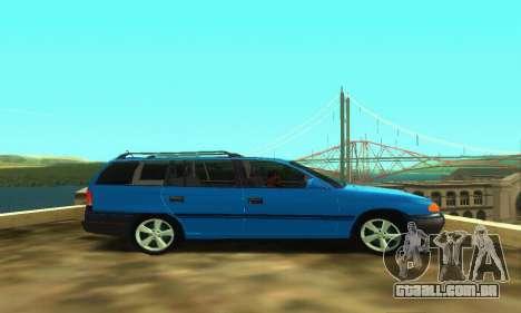 Opel Astra F Caravan para GTA San Andreas vista direita