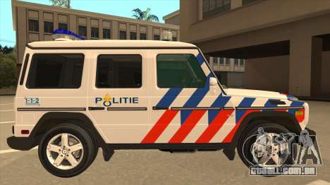 European Emergency Mercedes-Benz G 2008 para GTA San Andreas traseira esquerda vista