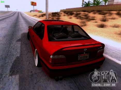 BMW M3 E36 Stance para GTA San Andreas traseira esquerda vista