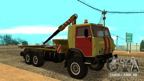 Caminhão de reboque 43114 KAMAZ para GTA San Andreas esquerda vista