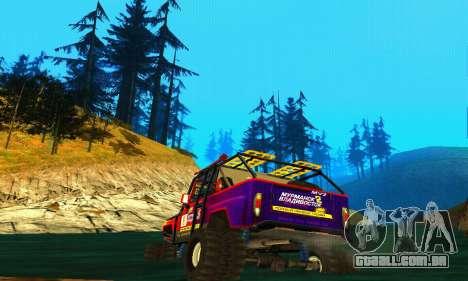 UAZ Hunter julgamento para GTA San Andreas vista traseira