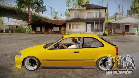 Honda Civic 1998 Tuned para GTA San Andreas esquerda vista