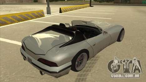 Banshee Stance para GTA San Andreas vista direita