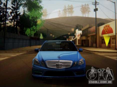 Mercedes-Benz E63 AMG 2010 para GTA San Andreas vista interior