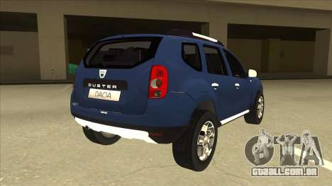 Dacia Duster 2014 para GTA San Andreas vista direita