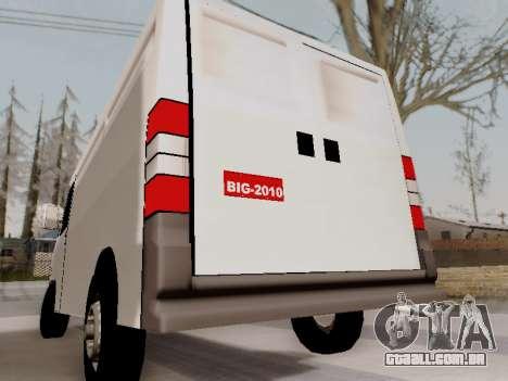 Fiat Ducato Cargo para GTA San Andreas traseira esquerda vista