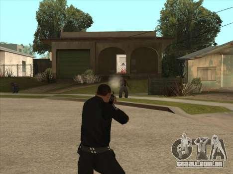 AKMS com baioneta-faca para GTA San Andreas terceira tela