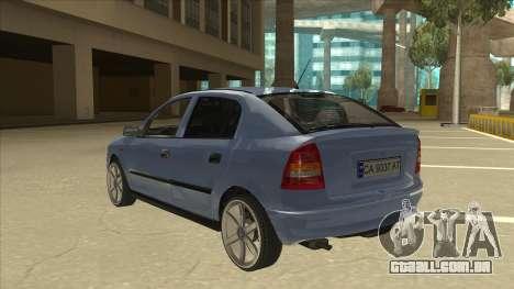 Opel Astra G Stock para GTA San Andreas vista traseira
