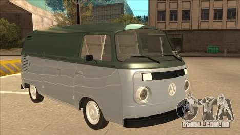 VW T2 Van para GTA San Andreas esquerda vista