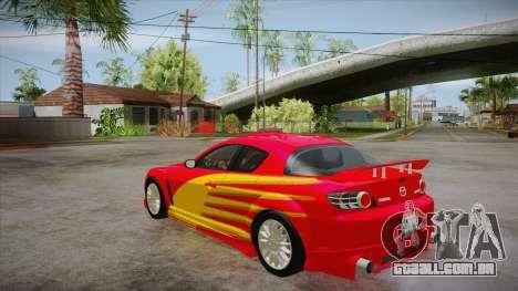 Mazda RX8 Tunnable para vista lateral GTA San Andreas