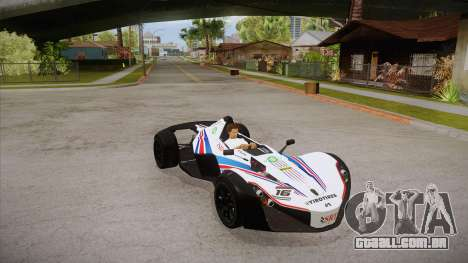 BAC Mono 2011 para GTA San Andreas vista superior