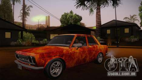 Datsun 510 RB26DETT Black Revel para GTA San Andreas vista superior