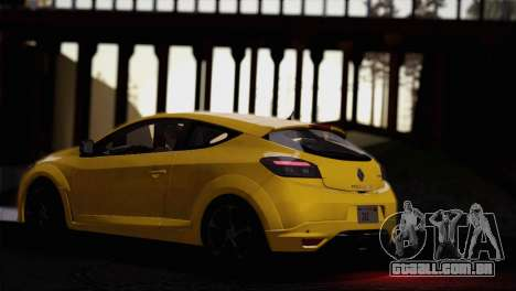 Renault Megane RS Tunable para GTA San Andreas vista superior