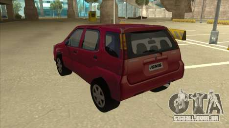 Suzuki Ignis para GTA San Andreas vista traseira