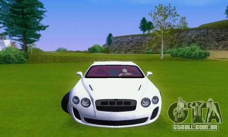 Bentley Continental Extremesports para GTA San Andreas esquerda vista