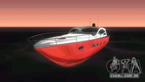 Cartagena Delight Luxury Yacht para GTA Vice City vista lateral