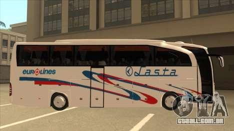 Mercedes-Benz Lasta Bus para GTA San Andreas traseira esquerda vista