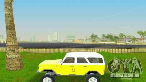UAZ 3151 para GTA Vice City vista traseira