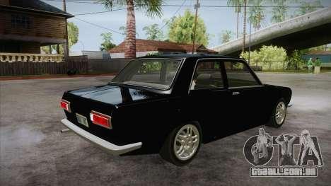 Datsun 510 RB26DETT Black Revel para GTA San Andreas vista direita
