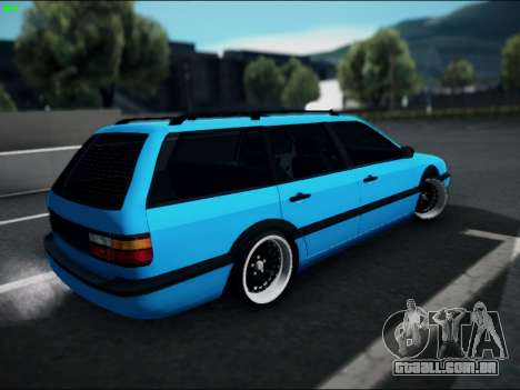 Volkswagen Passat Caravan 1993 Avant Style para GTA San Andreas esquerda vista