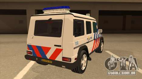 European Emergency Mercedes-Benz G 2008 para GTA San Andreas vista direita