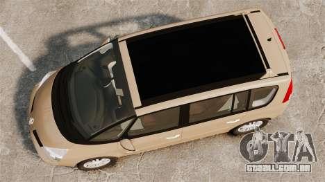 Renault Espace IV Initiale para GTA 4 vista direita