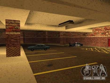 Nova garagem interior polícia HP para GTA San Andreas sétima tela