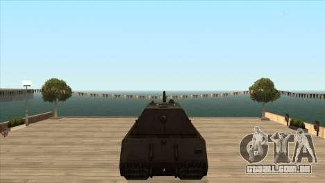 Panzerkampfwagen VIII Maus para GTA San Andreas por diante tela