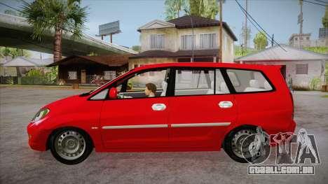 Toyota Kijang Innova 2.0 G v3.0 Steel Rims para GTA San Andreas esquerda vista
