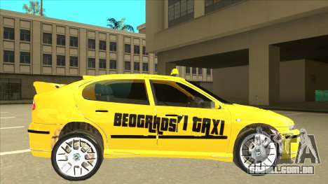 Seat Leon Belgrade Taxi para GTA San Andreas traseira esquerda vista