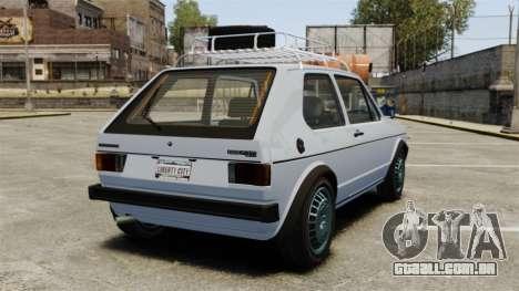 Volkswagen Golf MK1 GTI Rat Style para GTA 4 traseira esquerda vista