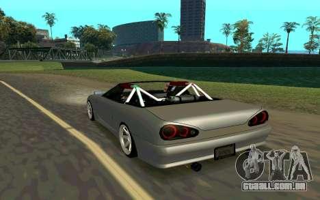 Elegy Cabrio para GTA San Andreas esquerda vista