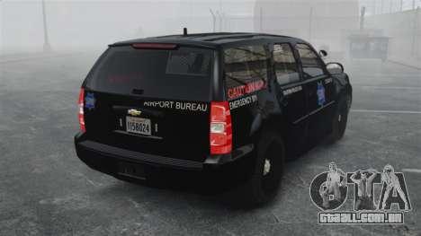 Chevrolet Tahoe 2010 PPV SFPD v1.4 [ELS] para GTA 4 traseira esquerda vista