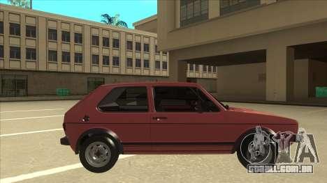 Volkswagen Golf 1 TAS para GTA San Andreas traseira esquerda vista