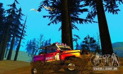 UAZ Hunter julgamento para GTA San Andreas traseira esquerda vista