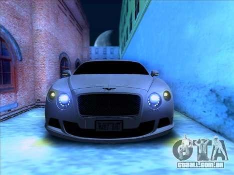 Bentley Continental GT Final 2011 para GTA San Andreas vista traseira