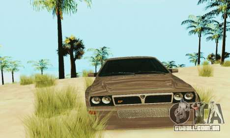 Lancia Delta HF Integrale para GTA San Andreas vista interior