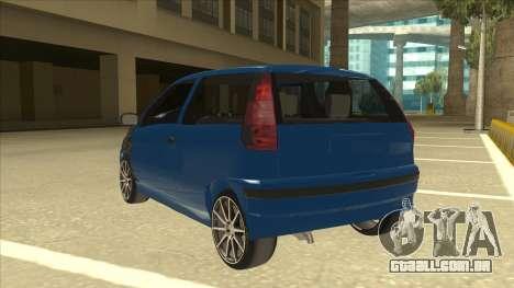 Fiat Punto MK1 Tuning para GTA San Andreas vista traseira