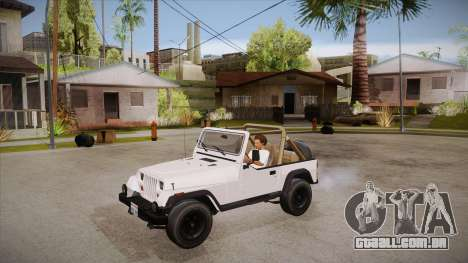 Jeep Wrangler V10 TT Black Revel para GTA San Andreas vista interior
