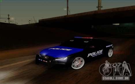Audi RS5 2011 Police para GTA San Andreas vista traseira