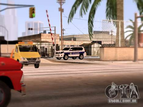Toyota Land Cruiser POLICE para vista lateral GTA San Andreas